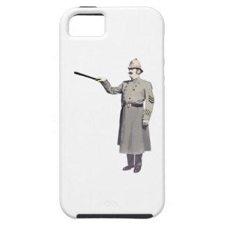 La policía del vintage sirve el ejemplo iPhone 5 protector
