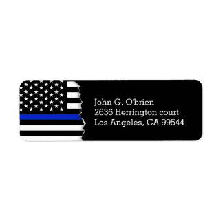 La policía diseña la bandera americana etiquetas de remite