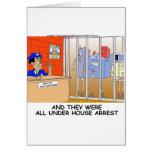 La policía divertida del arresto domiciliario tarjeta de felicitación