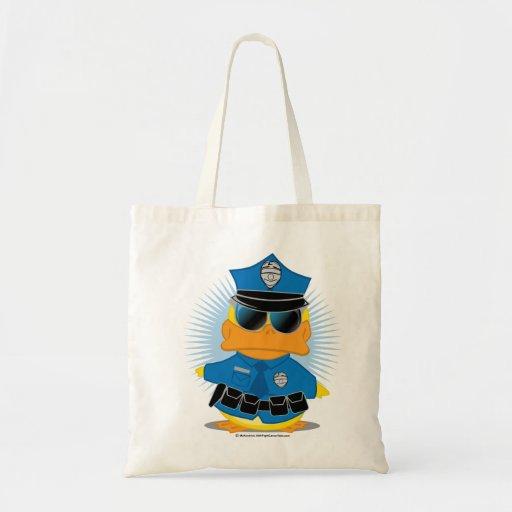 La policía Duck Bolsas Lienzo