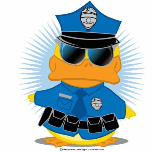 La policía Duck Fotoescultura Vertical