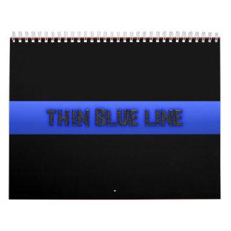 La policía enrarece Blue Line 3D Calendario