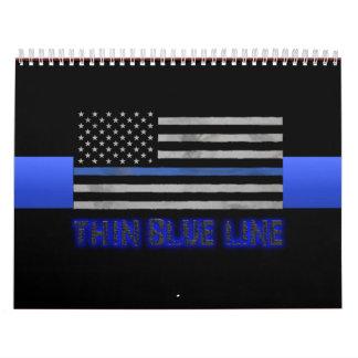 La policía enrarece Blue Line 3D Calendarios De Pared