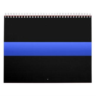La policía enrarece Blue Line Calendario
