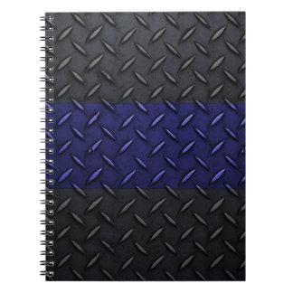La policía enrarece diseño de la placa del diamant libro de apuntes con espiral