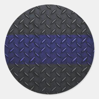 La policía enrarece diseño de la placa del pegatina redonda