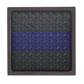 La policía enrarece la placa del diamante de Blue Caja De Regalo De Calidad