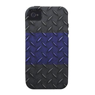 La policía enrarece la placa del diamante de Blue iPhone 4 Funda