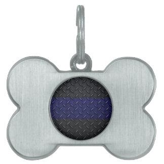La policía enrarece la placa del diamante de Blue  Placas De Mascota