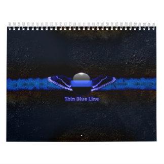 La policía enrarece las alas de Blue Line Calendario De Pared