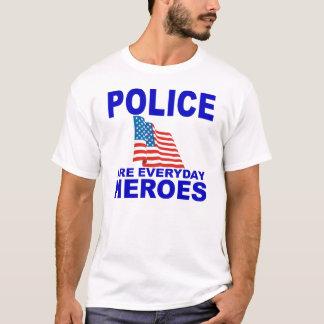 La policía es héroes diarios playera