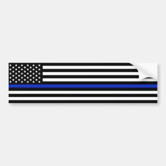 La policía fina de la bandera americana de Blue Pegatina Para Auto