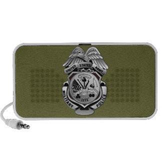 La policía militar estilizada Badge Mp3 Altavoces