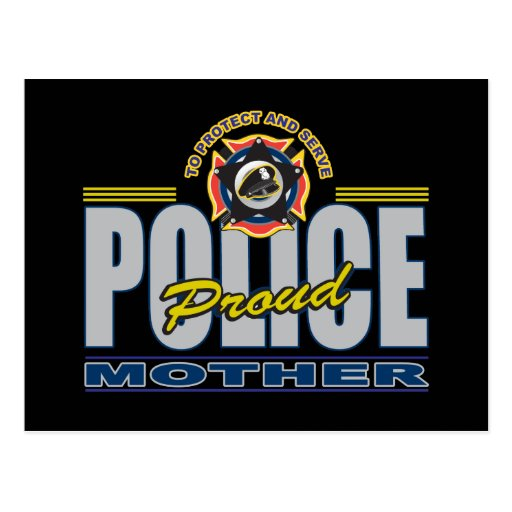 La policía orgullosa mima tarjeta postal