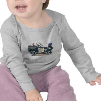 La policía Pedal camiseta del bebé del coche