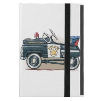 La policía Pedal coche del poli del coche iPad Mini Fundas