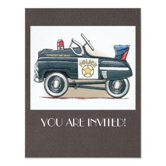 """La policía Pedal coche del poli del coche Invitación 4.25"""" X 5.5"""""""