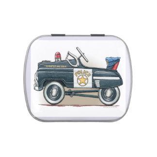La policía Pedal coche del poli del coche Jarrones De Dulces