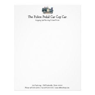 La policía Pedal coche del poli del coche Membrete