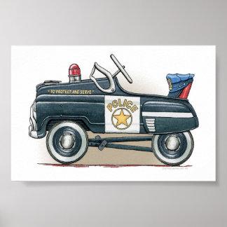 La policía Pedal coche del poli del coche Impresiones