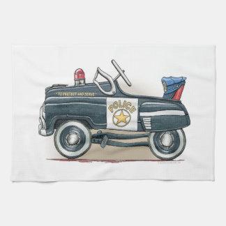 La policía Pedal coche del poli del coche Toalla De Mano