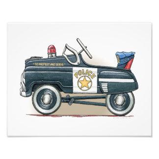 La policía Pedal coche del poli del coche Impresiones Fotograficas