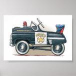 La policía Pedal coche del poli del coche Póster