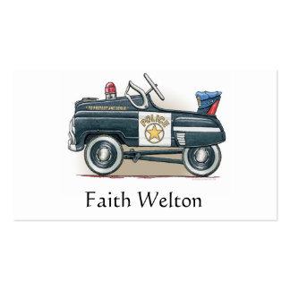 La policía Pedal coche del poli del coche Tarjetas De Visita