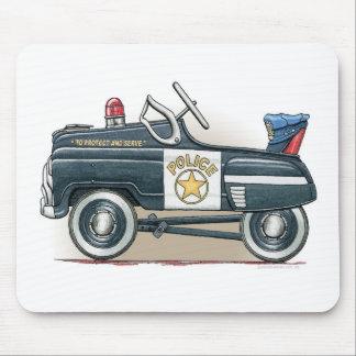 La policía Pedal cojín de ratón del coche del poli Alfombrillas De Ratón