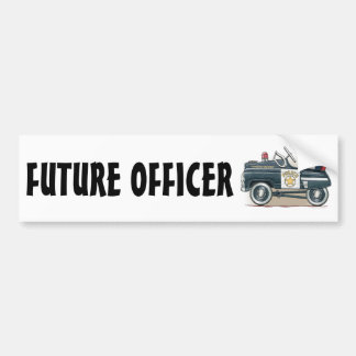 La policía Pedal pegatina para el parachoques del  Pegatina Para Auto
