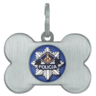 La policía polaca de Policja Badge la etiqueta del Placa Mascota