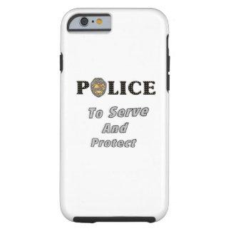La policía protege y sirve funda de iPhone 6 tough