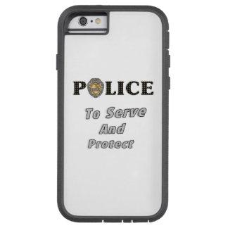 La policía protege y sirve funda de iPhone 6 tough xtreme