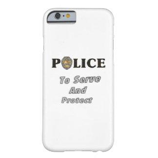 La policía protege y sirve funda de iPhone 6 barely there