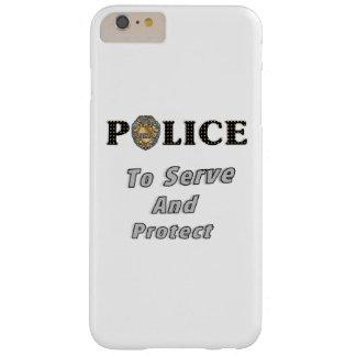 La policía protege y sirve funda de iPhone 6 plus barely there