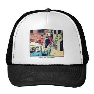 La policía retra del kitsch del vintage es su amig gorra