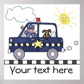 La policía sirve póster