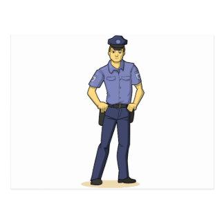 La policía sirve tarjetas postales