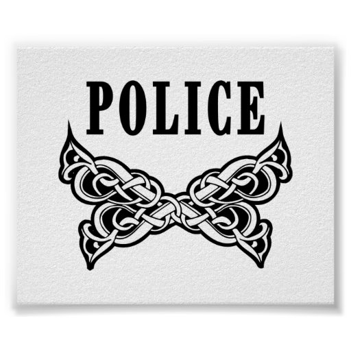 La policía tatúa el poster