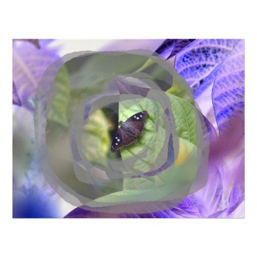 la polilla en la planta invertida afila el insecto membrete
