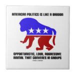 La política americana es como decir del babuino tejas
