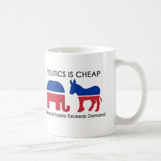 La política es barata porque la fuente excede taza de café