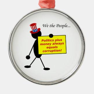 La política más el dinero iguala siempre la ornato