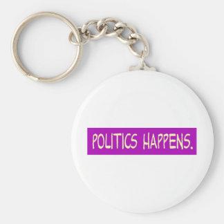 la política sucede llaveros personalizados