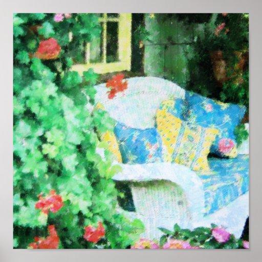 La porche trasero posters