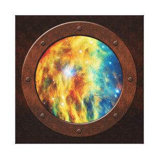 La porta de Steampunk de la nebulosa de la medusa Impresión En Tela