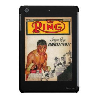 La portada de revista 2 del anillo funda para iPad mini retina