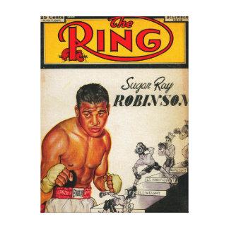 La portada de revista 2 del anillo lienzo envuelto para galerias
