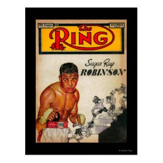 La portada de revista 2 del anillo tarjeta postal