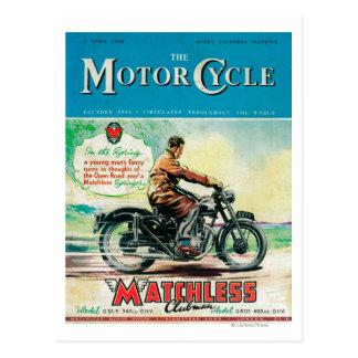 La portada de revista de la moto postales